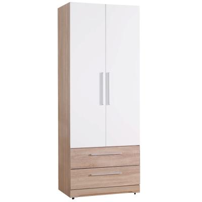 品家居 傑克2.5尺二抽開門衣櫃-76x57x196cm-免組