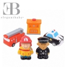 Elegant Baby 洗澡玩具5入組-英雄派對