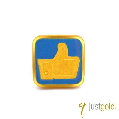 鎮金店Just Gold 黃金單耳耳環- 繽紛派對(讚)