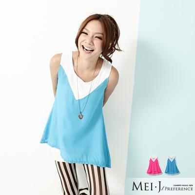 上衣-韓式無袖明星大愛長版上衣-小美日系