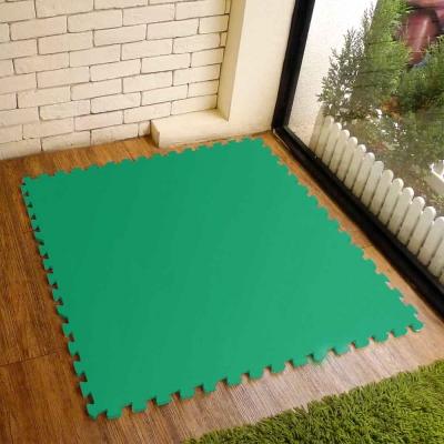 【新生活家】EVA運動安全地墊62x62x1.3cm-綠色(12片入)