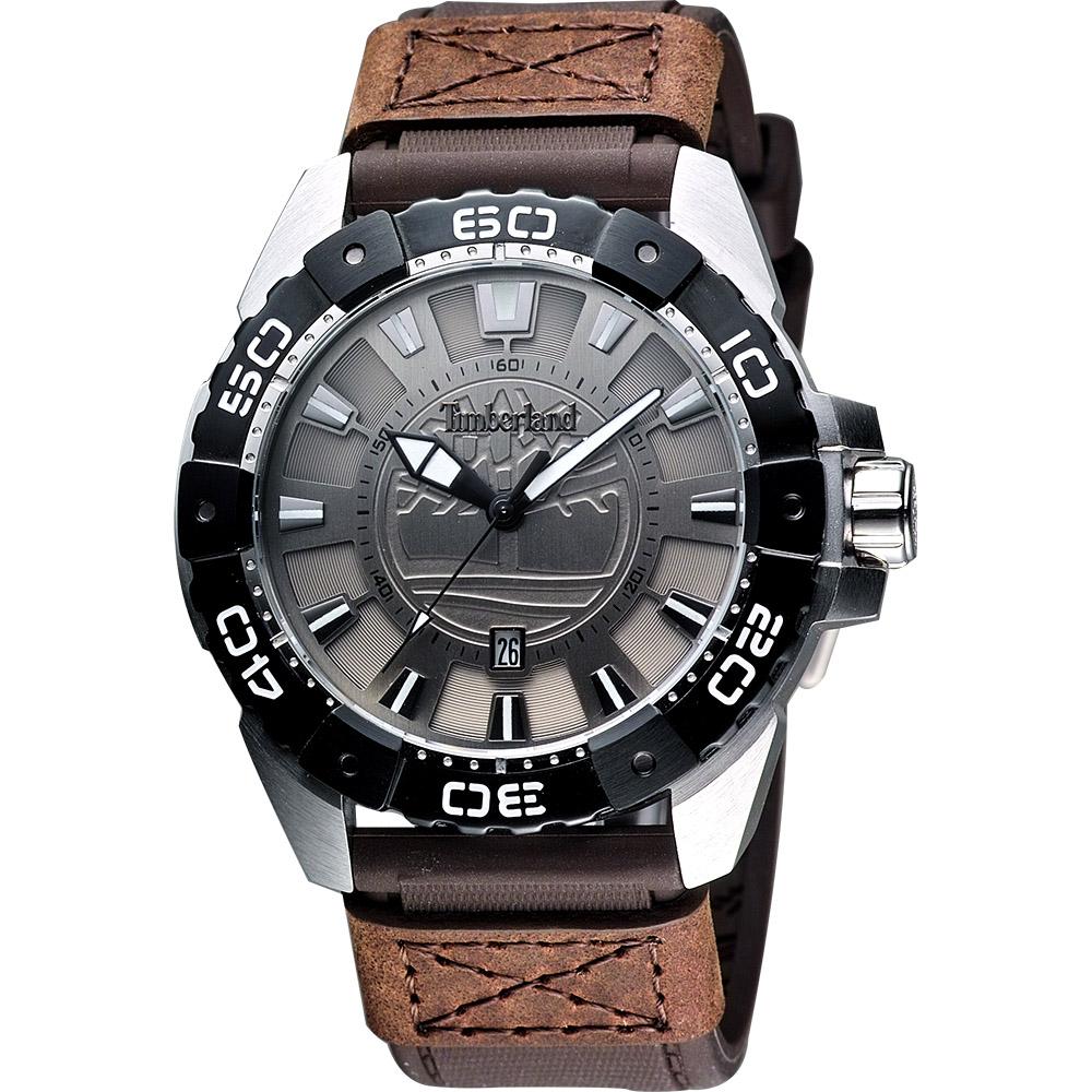 Timberland Original 經典個性腕錶-金屬灰/44mm