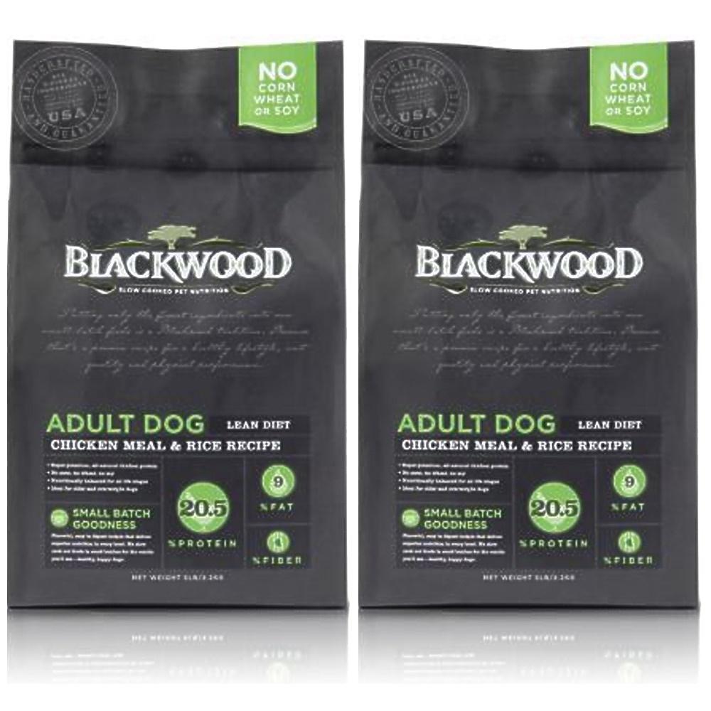 BlackWood 柏萊富 特調低卡保健(雞肉+米)犬糧 5磅 2包