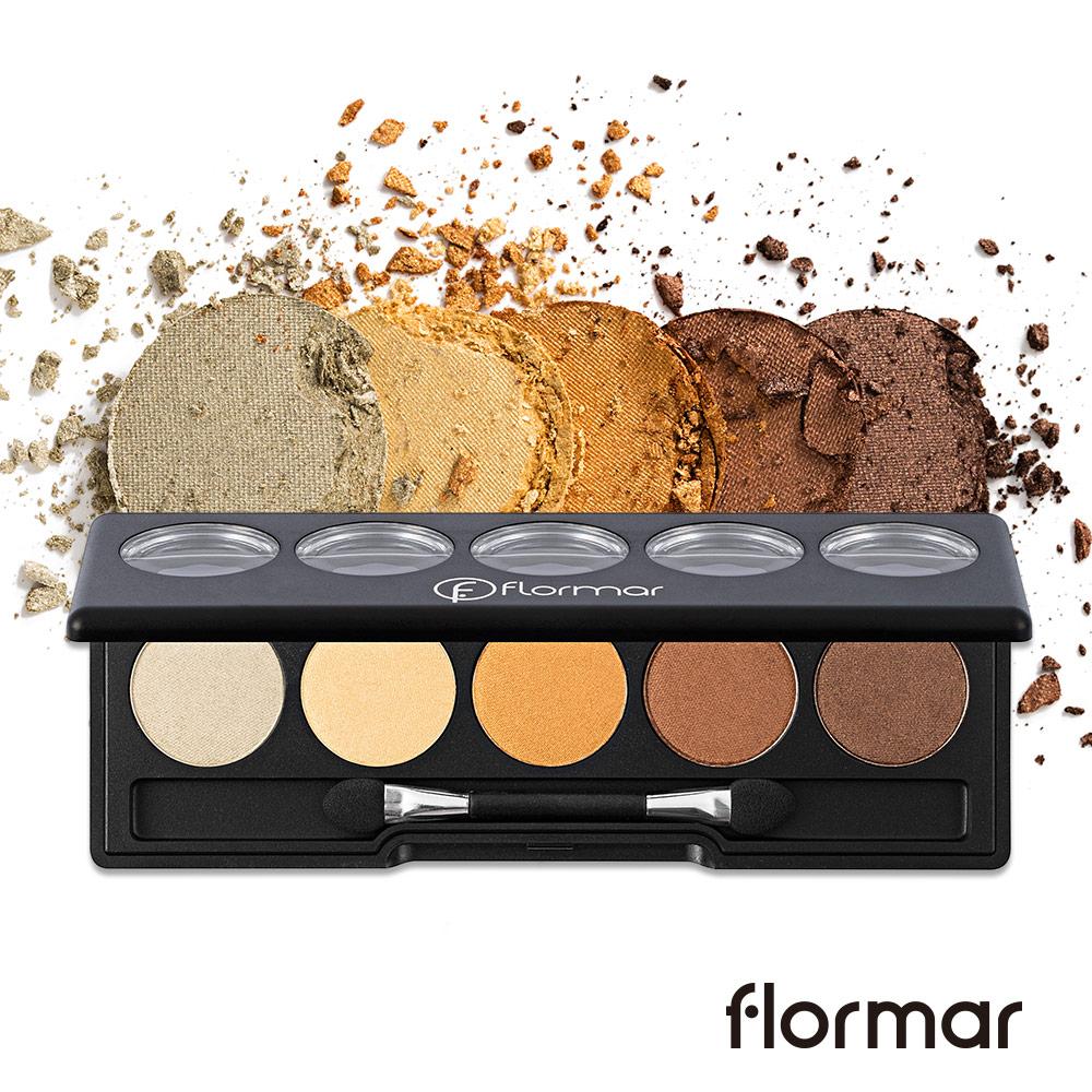 法國Flormar - 奧賽美術眼影盤(#004埃及金)