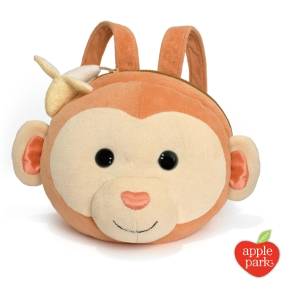 【美國 Apple Park】有機棉玩偶造型背包 - 香蕉小猴