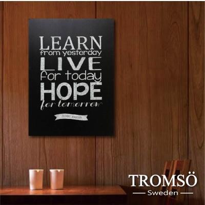 TROMSO時尚無框畫-文字工業