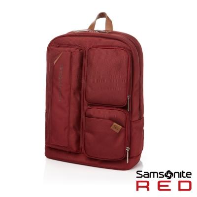 Samsonite-RED-CINIS-多袋式輕盈後背包S-亮眼紅