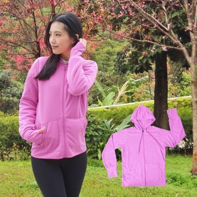 【日本熱銷】COLORFULl抗UV吸排涼感連帽外套 紫色