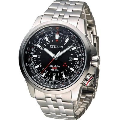 CITIZEN PROMASTER 光動能領航雙時區腕錶(BJ7071-54E)-46.5mm