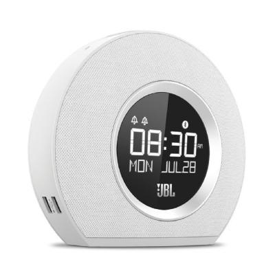 JBL Horizon時尚燈光鬧鐘藍牙喇叭 白色款