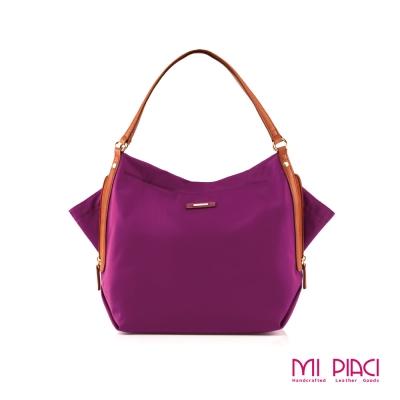 Mi Piaci革物心語-彩蝶圓舞曲Butterfly Bag蝴蝶包-玫瑰紅