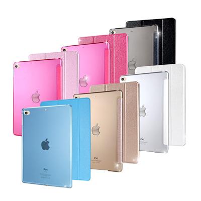 VXTRA iPad Pro 12.9吋 清透蜜糖紋 超薄三折保護套