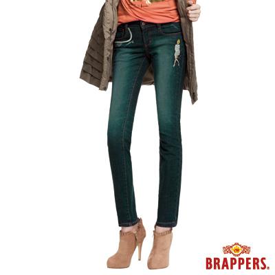BRAPPERS 女款 新美腳Royal系列-女用彈性AB褲-藍