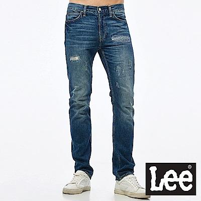 Lee 牛仔褲 726中腰標準小直筒牛仔褲-男款-藍