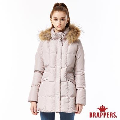 BRAPPERS 女款 長版羽絨外套-卡其