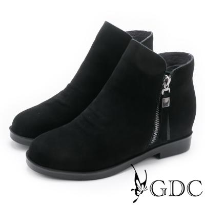 GDC-基本款百搭柔軟磨砂短靴-黑色
