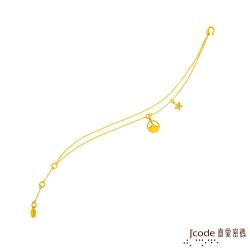J'code真愛密碼 天秤座-銀杏葉黃金手鍊