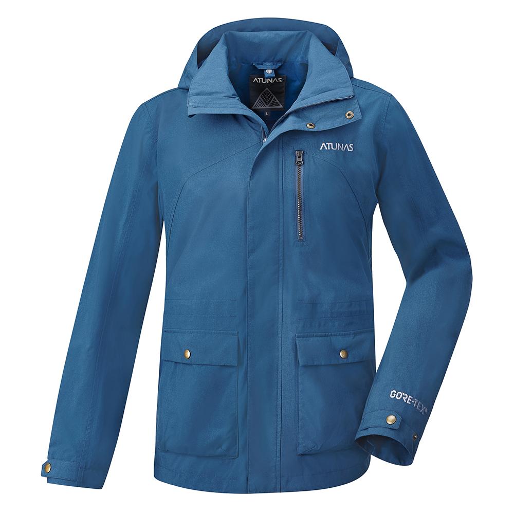 【ATUNAS 歐都納】男款防水GORE-TEX二件式風衣外套A-G1721M灰藍