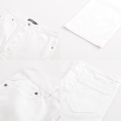 Hang Ten-男裝-完美修身破斜紋色褲-白