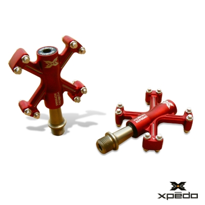 XPEDO XCF 05 輕量化鋁合金腳踏 紅