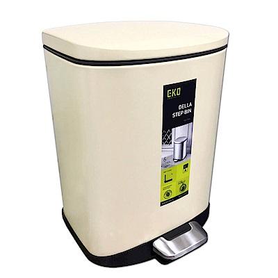 EKO迪萊靜音垃圾桶 6L米色