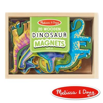 美國瑪莉莎 Melissa & Doug 磁力 恐龍造型木質磁鐵貼