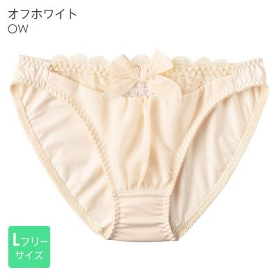 aimerfeel-淑女透視蕾絲雪紡內褲-米白色