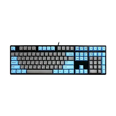 Ducky 創傑 One 銀軸 無背光 PBT熱昇華 藍灰帽 機械式鍵盤《中文版》