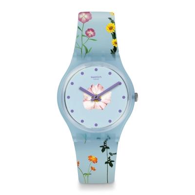 Swatch 田園風情系列 PISTILLO 夏日花海手錶