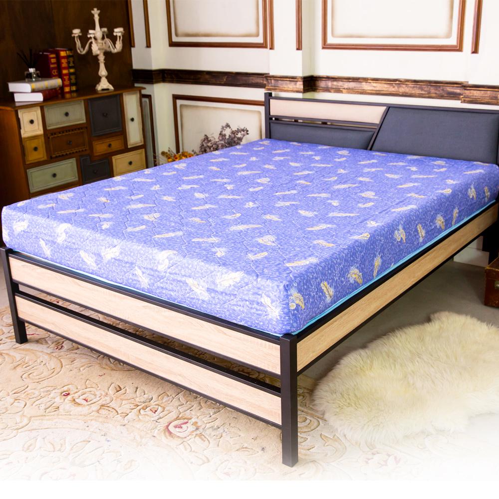 時尚屋 維納斯冬夏兩用精緻印花3尺單人彈簧床