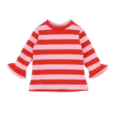 愛的世界-MYBEAR-彈性橫條紋內刷毛長袖上衣-1-4歲
