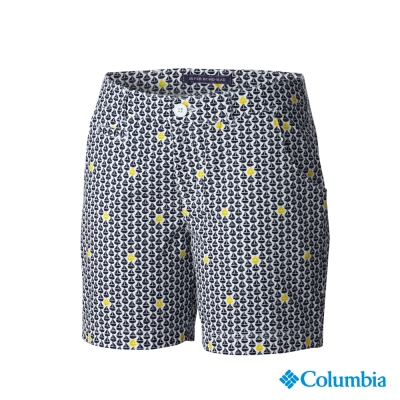 【美國Columbia哥倫比亞】抗UV防曬30短褲-女-深藍(UFL45610NY)