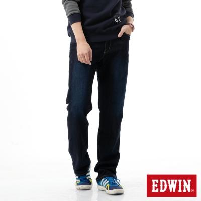 EDWIN-REBEL基本五袋直筒牛仔褲-男-原藍