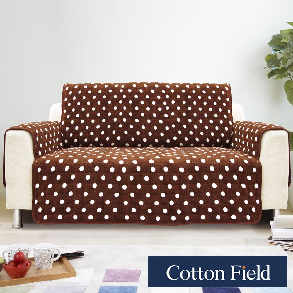 棉花田【暖點】雙人沙發防滑保暖保潔墊-可可色