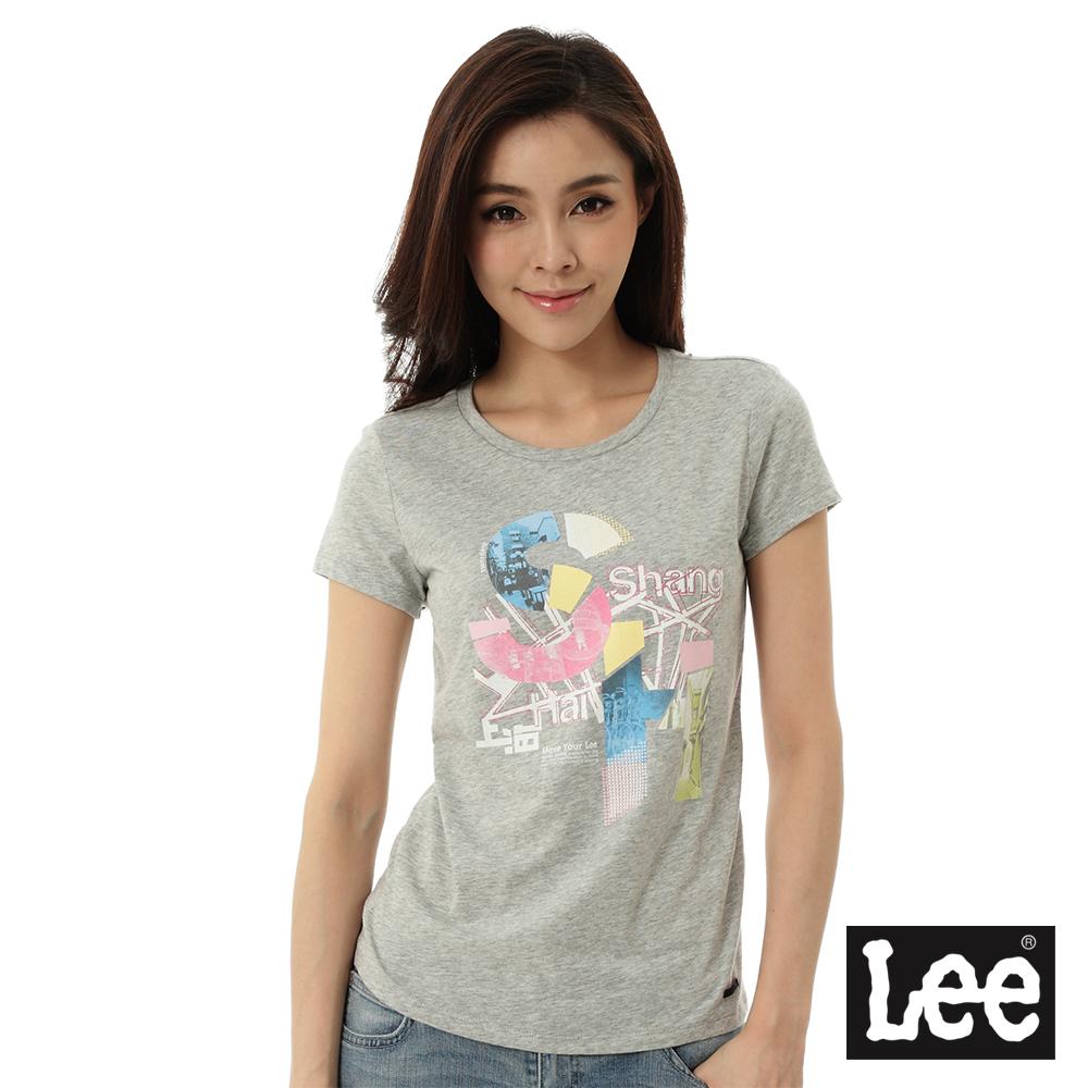 Lee 城市短袖T恤-女-灰