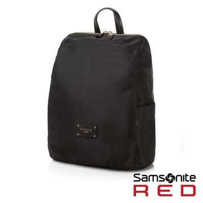 Samsonite RED CLODI簡約輕巧抓皺設計後背包-12.5吋(黑)