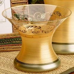Madiggan托斯卡尼系列手工彩繪中型花瓶-小(金紅.金綠可選)