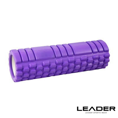 Leader X 專業塑身美體瑜珈棒 滾筒 按摩輪 加長版45cm 粉紫- 急速配