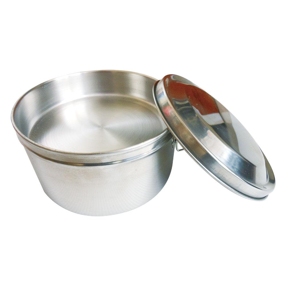 派樂 正304不鏽鋼圓形雙層便當盒14cm(五件式) 附菜盤飯盒+贈湯碗湯匙(五件式)