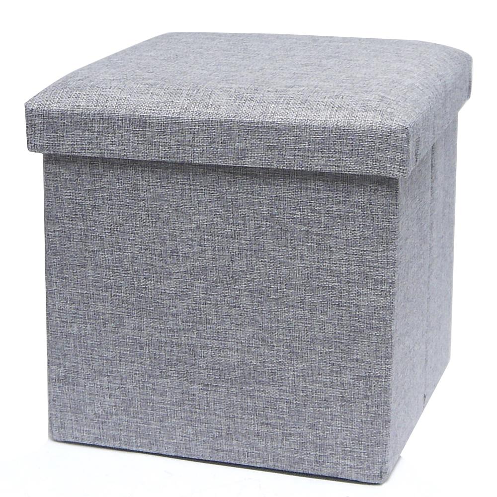 耐重簡約麻布收納椅25cm(灰色)