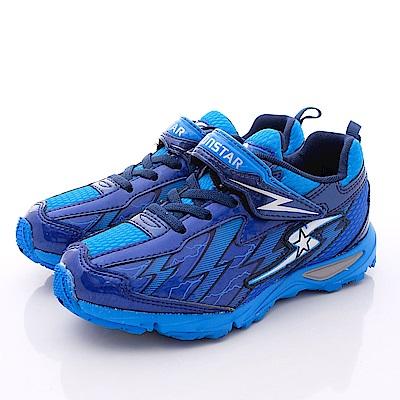 日本月星頂級競速童鞋-2E炫彩BANE款-6745藍(中大童段)T1#19
