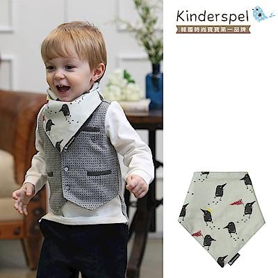 Kinderspel 繽紛時尚‧有機棉圍兜領巾(黑鳥探險家)
