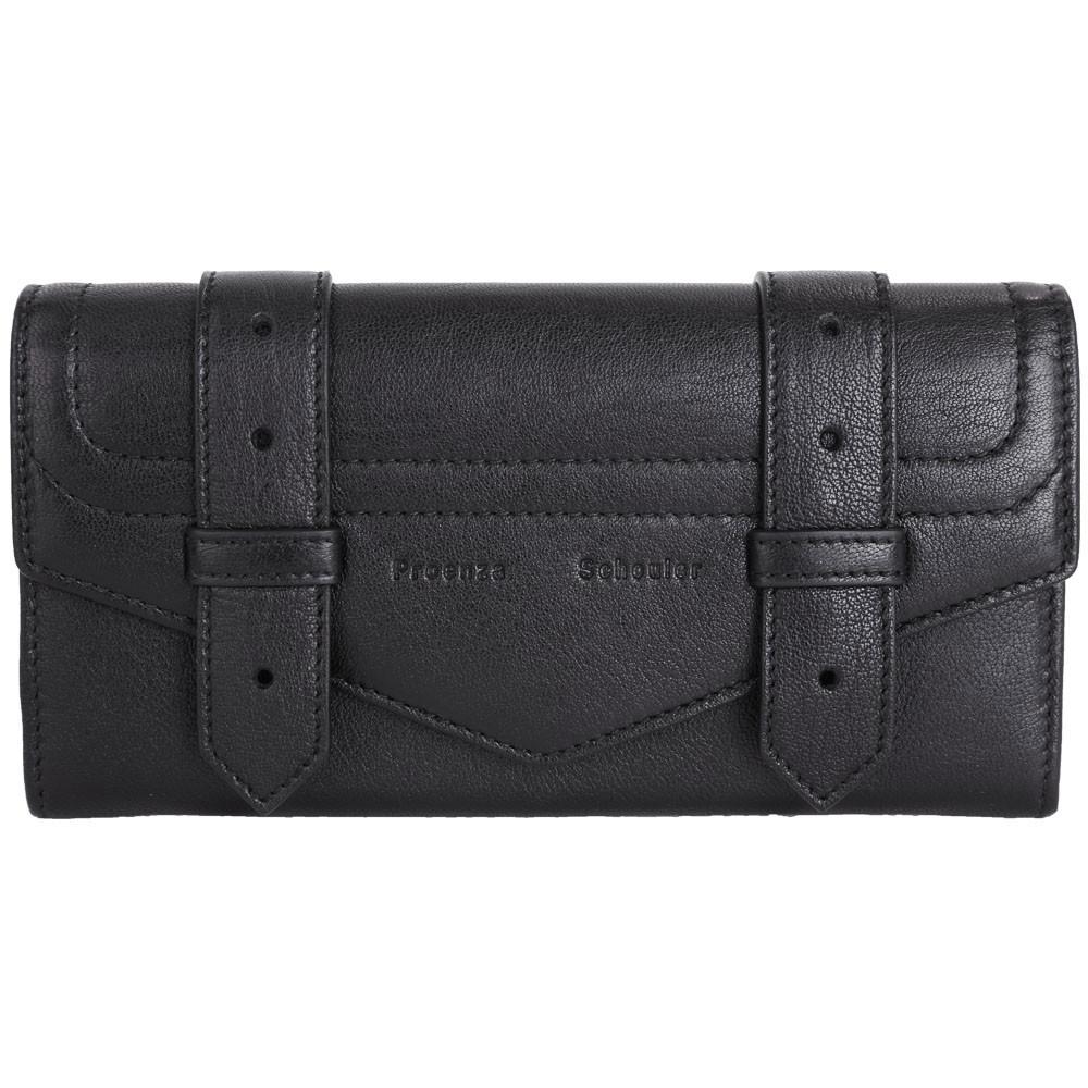 PROENZA SCHOULER PS1 山羊皮革釦式長夾(黑色)