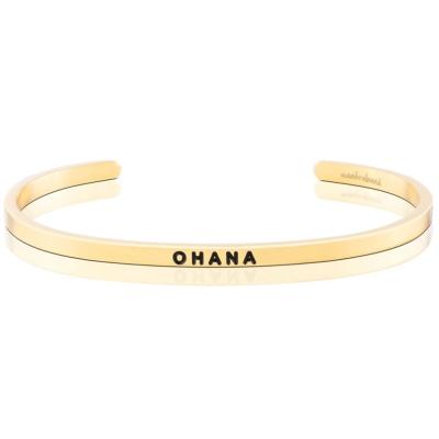 MANTRABAND OHANA 一輩子的家人與支持 金色手環 夏威夷文版