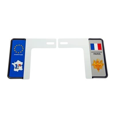 新7碼汽車牌-國家別裝飾牌框(法國)