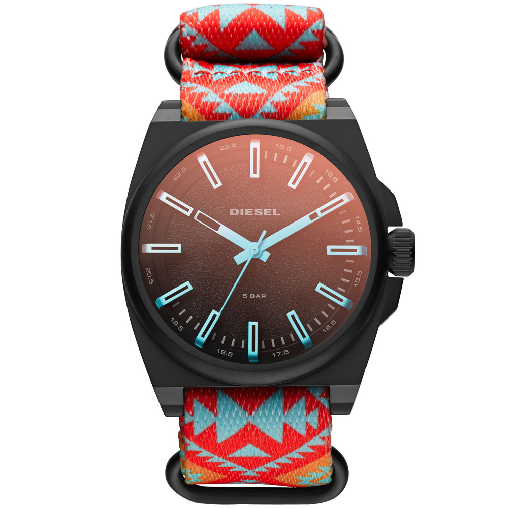 DIESEL 都會叢林個性運動腕錶-黑/46mm