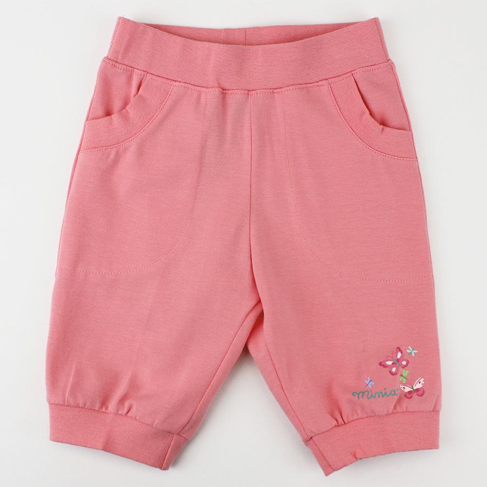 愛的世界 MYBABY 蝶舞鬆緊帶束口七分褲/1~3歲