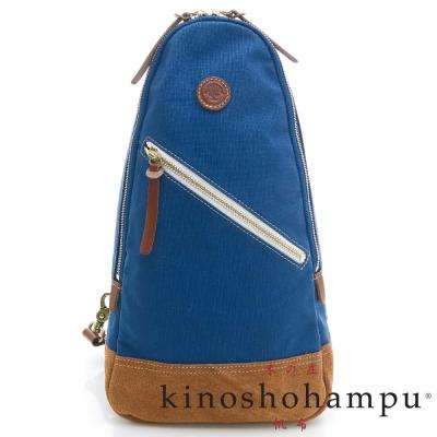 kinoshohampu-單車旅行系列-斜肩三角拉鍊後背包-藍色