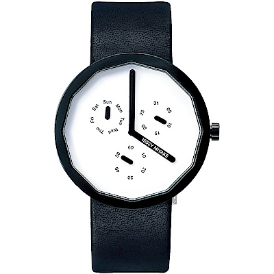ISSEY MIYAKE三宅一生 TWELVE 日曆手錶(SILAP008Y)