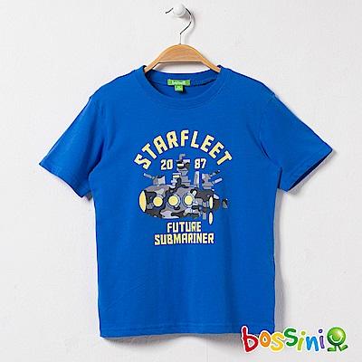 bossini男童-印花短袖T恤22藍紫
